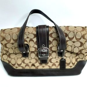 Coach Signature Hampton Flap Bag